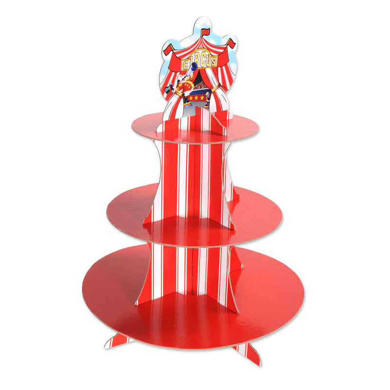 Circus Tent Cupcake Stand by Beistle - Circus Theme Decorations