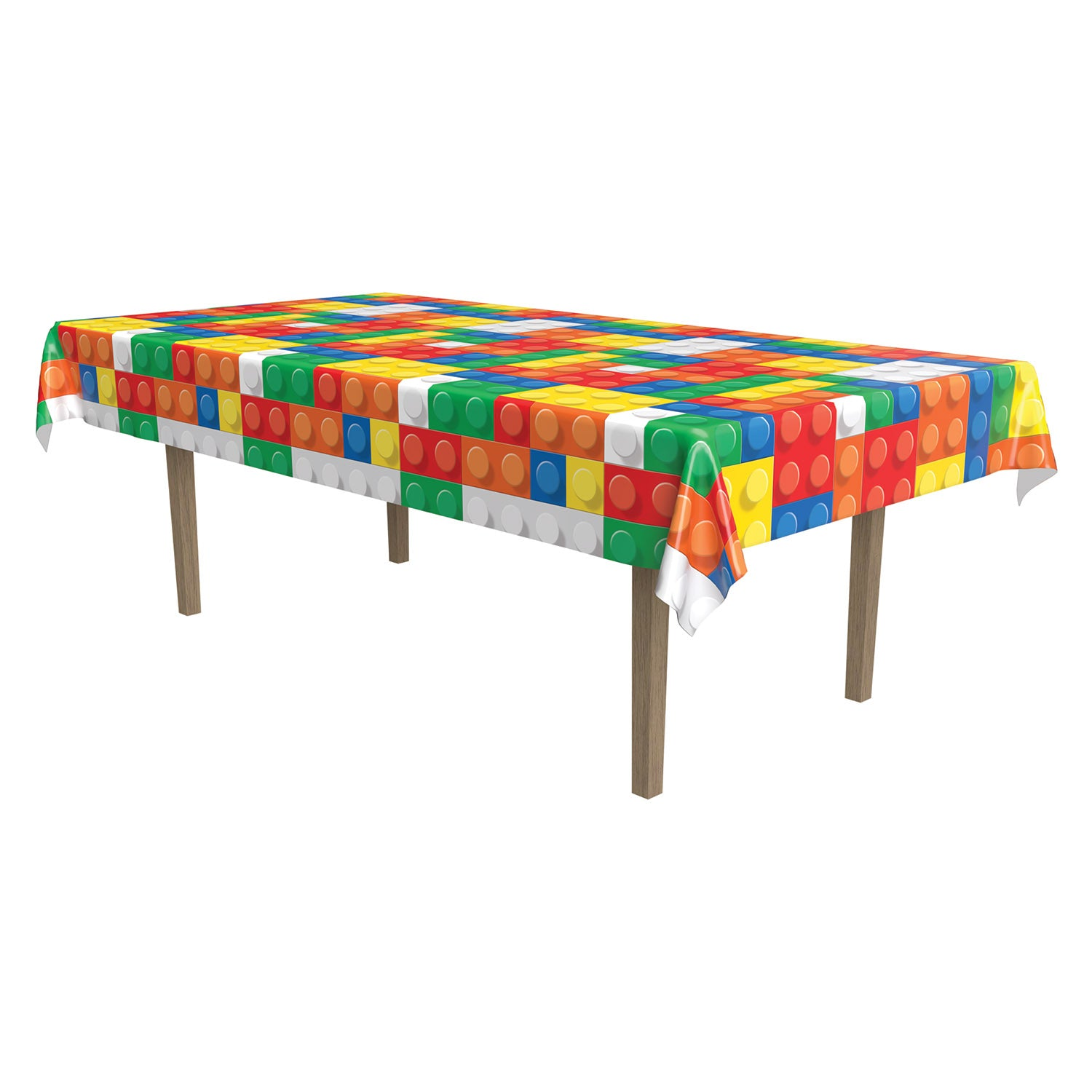 Building Blocks Tablecover by Beistle - Building Blocks Theme Decorations