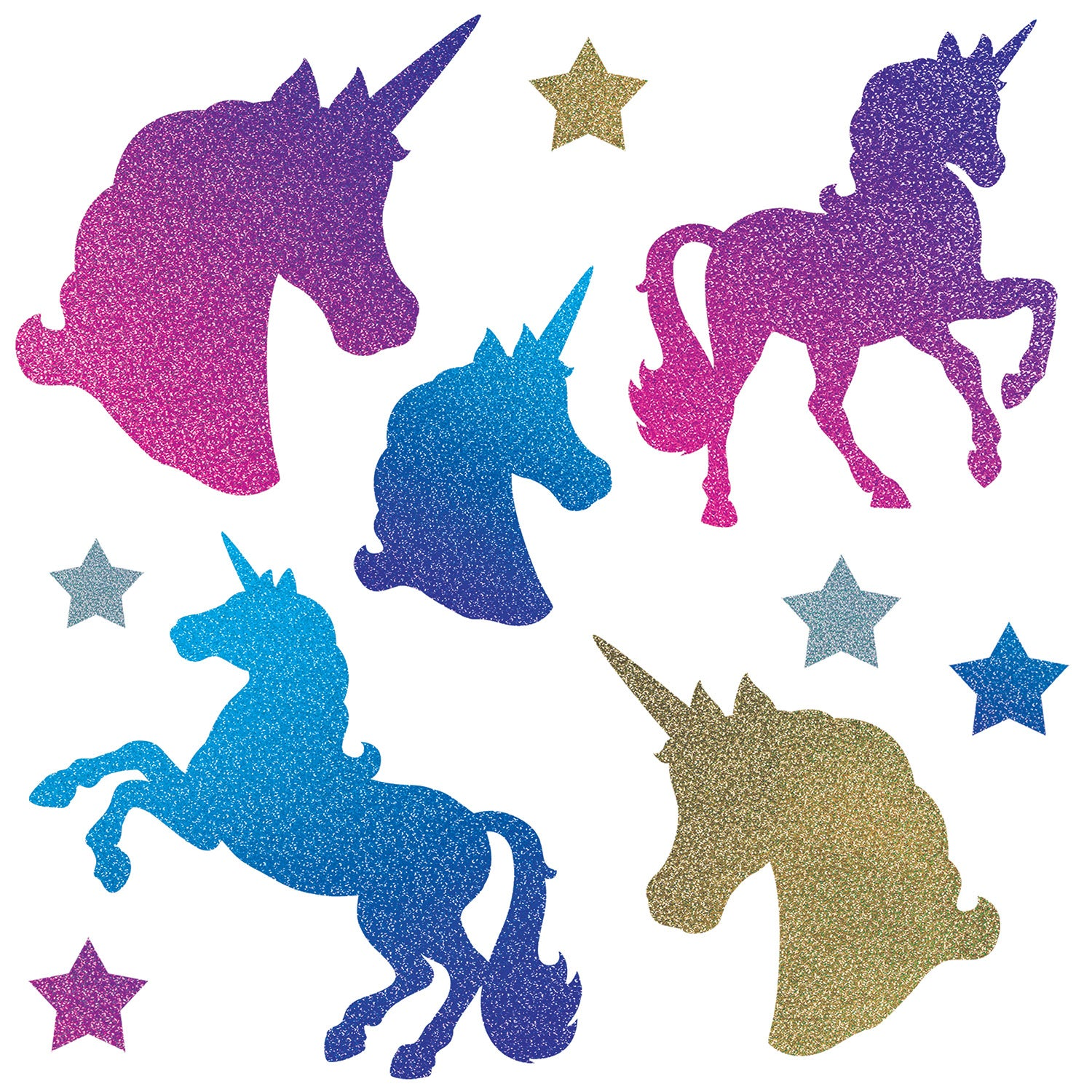 Unicorn Cutouts (10/Pkg) by Beistle - Unicorn Theme Decorations