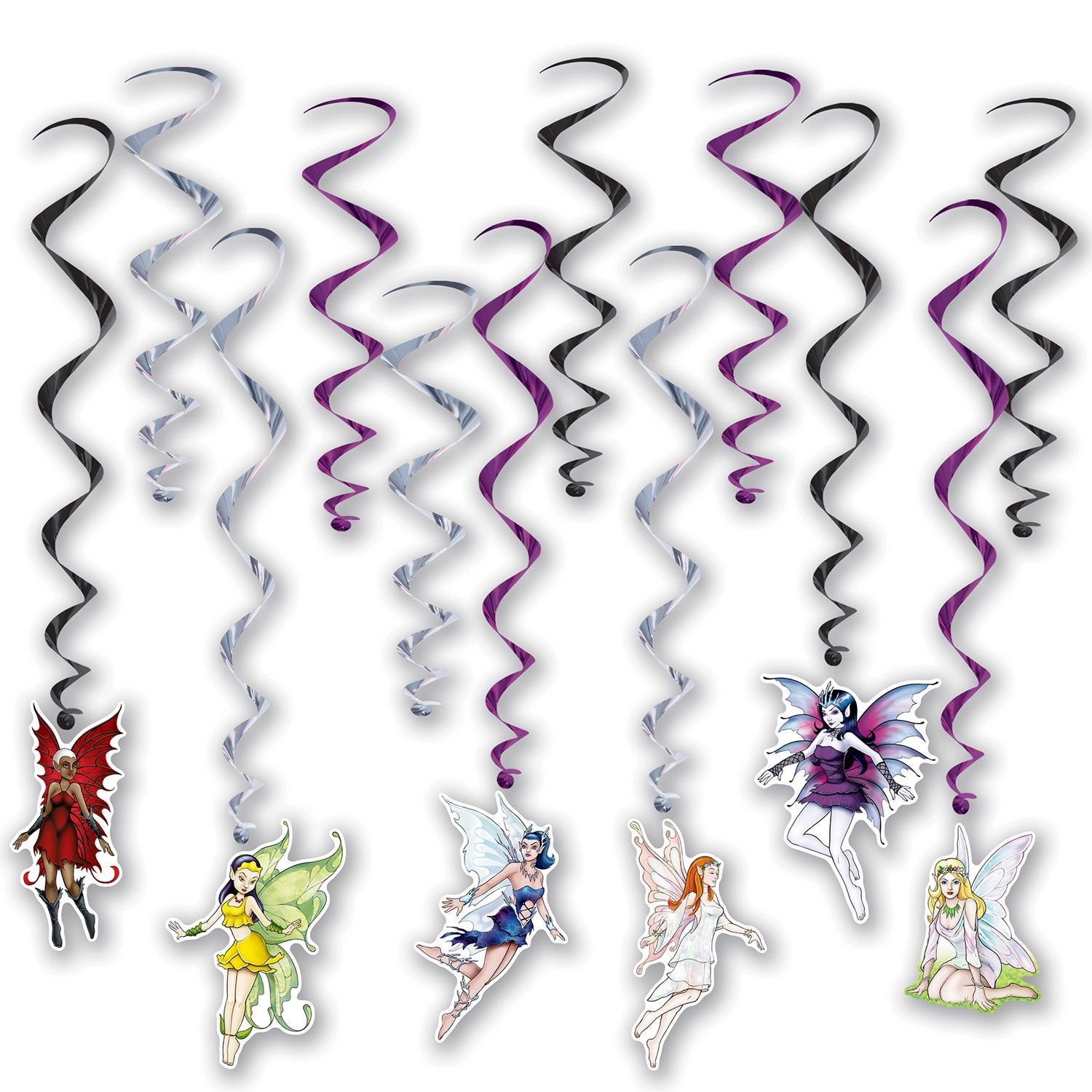 Fairy Whirls (12/Pkg) by Beistle - Fantasy Theme Decorations