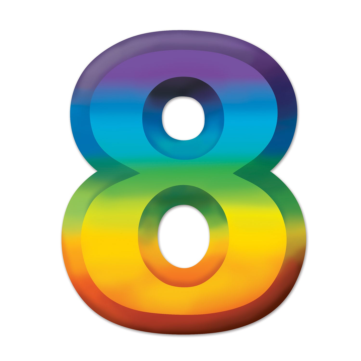 Multi-Color Plastic 3-D Number 8 by Beistle - Birthday Party Supplies Decorations