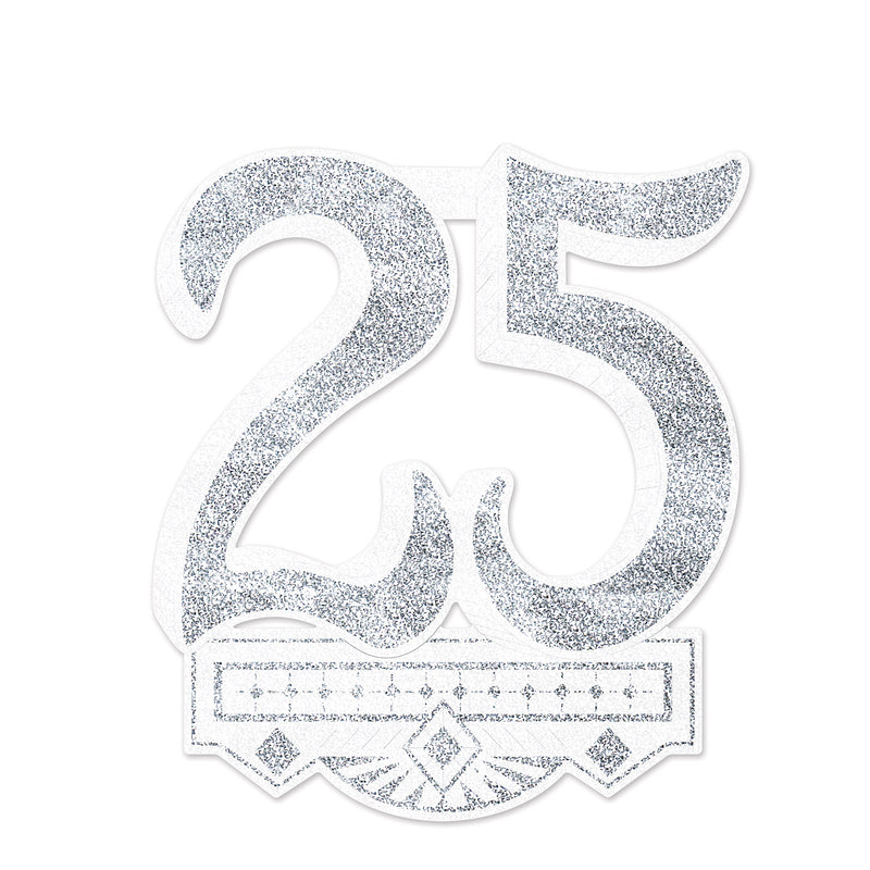 25th Anniversary Crest by Beistle - Anniversary Theme Decorations