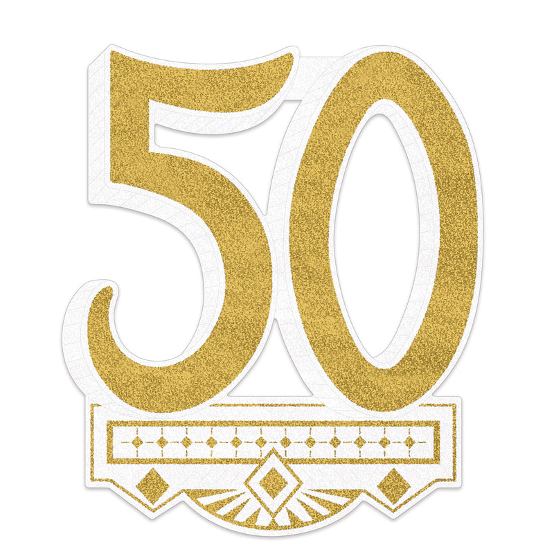 50th Anniversary Crest by Beistle - Anniversary Theme Decorations