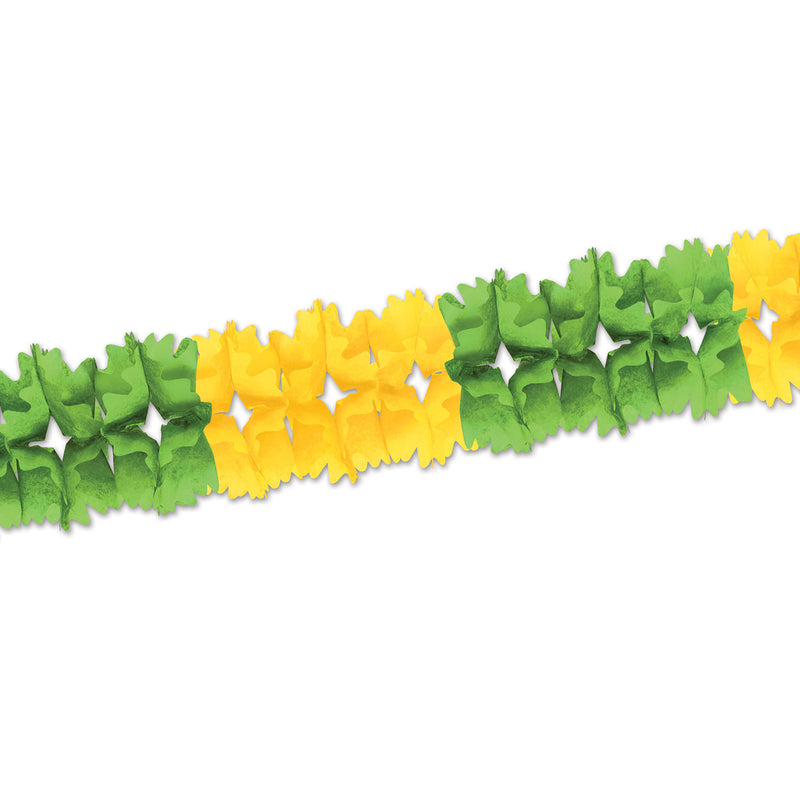Pageant Garland, lt green & canary by Beistle - Spring/Summer Theme Decorations