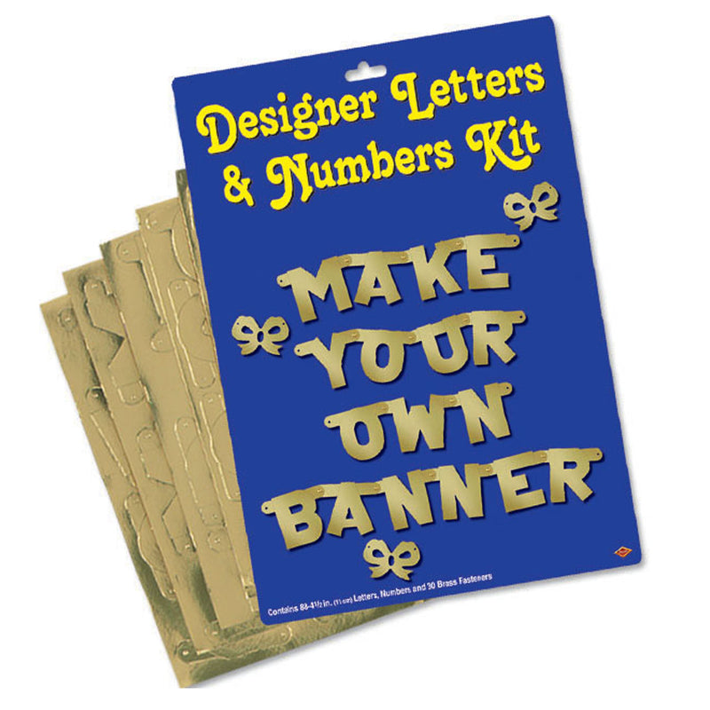 Designer Letters & Numbers Kit by Beistle - Anniversary Theme Decorations
