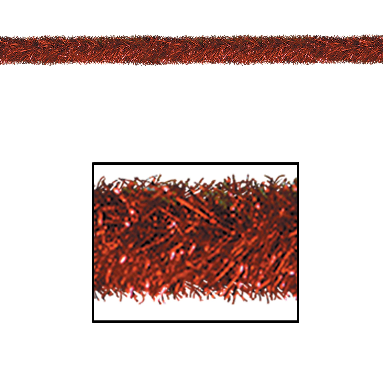 Gleam 'N Tinsel Garland, red by Beistle - Winter and Christmas Theme Decorations