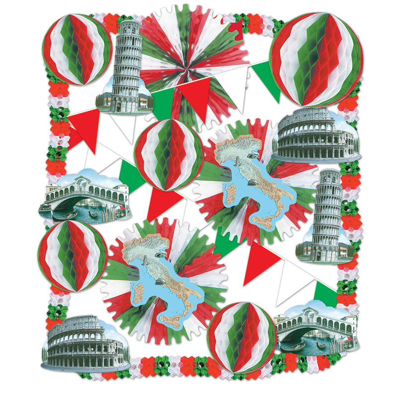Italian Decorating Kit by Beistle - Italian Theme Decorations