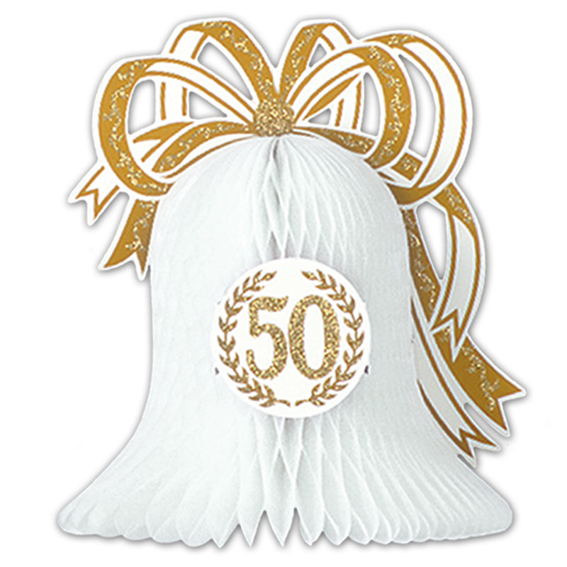 50th Anniversary Centerpiece by Beistle - Anniversary Theme Decorations