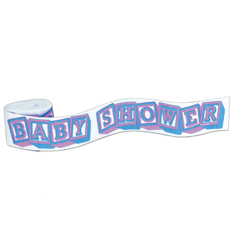 FR Baby Shower Crepe Streamer by Beistle - Baby Shower Theme Decorations