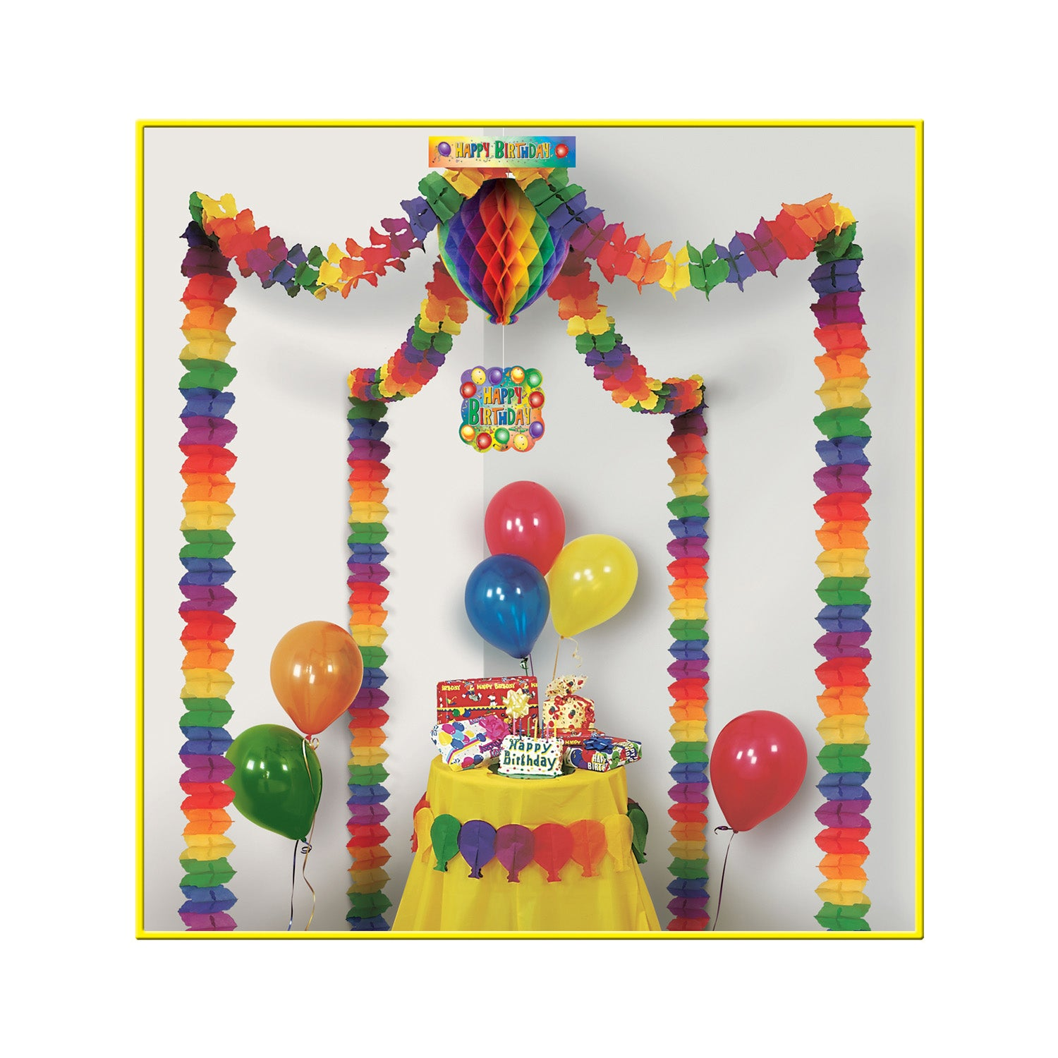 Happy Birthday Party Canopy by Beistle - Birthday Party Supplies Decorations