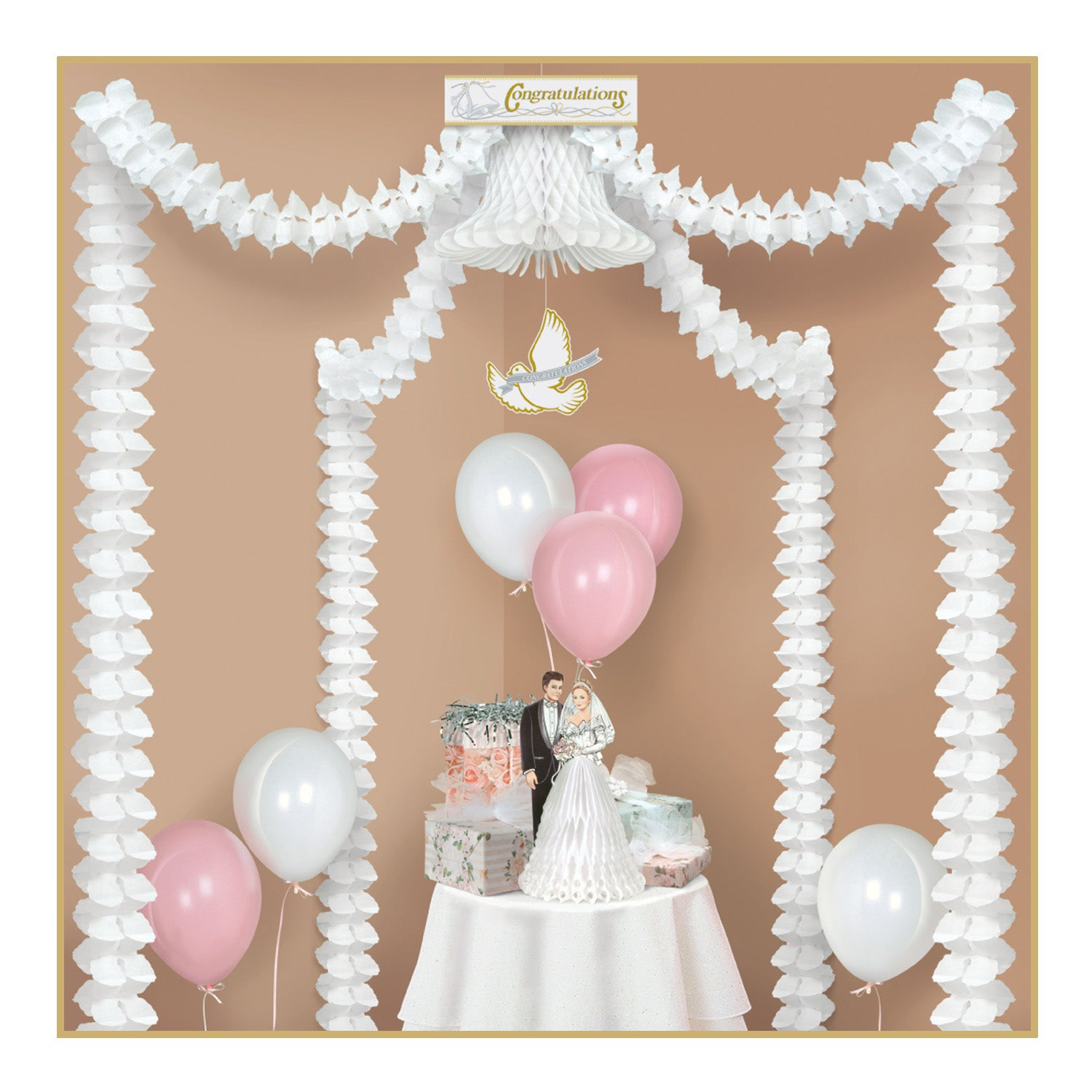 Congratulations Party Canopy by Beistle - Wedding Theme Decorations
