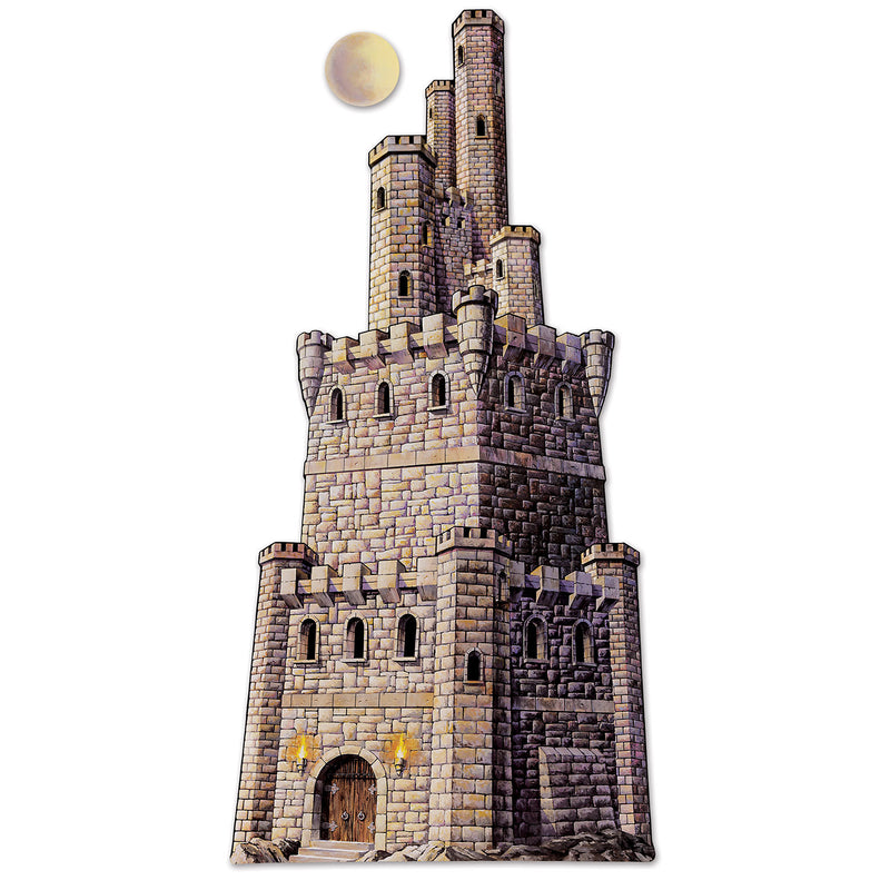 Jointed Castle Tower by Beistle - Medieval Theme Decorations