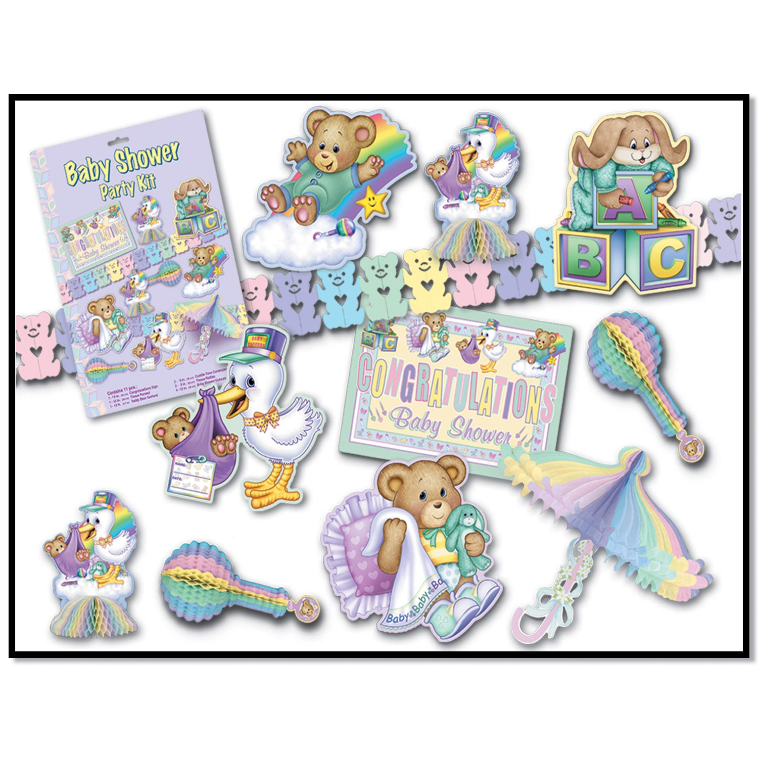 Cuddle-Time Party Kit by Beistle - Baby Shower Theme Decorations