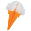 Tissue Ice Cream Cones by Beistle - Food Theme Decorations
