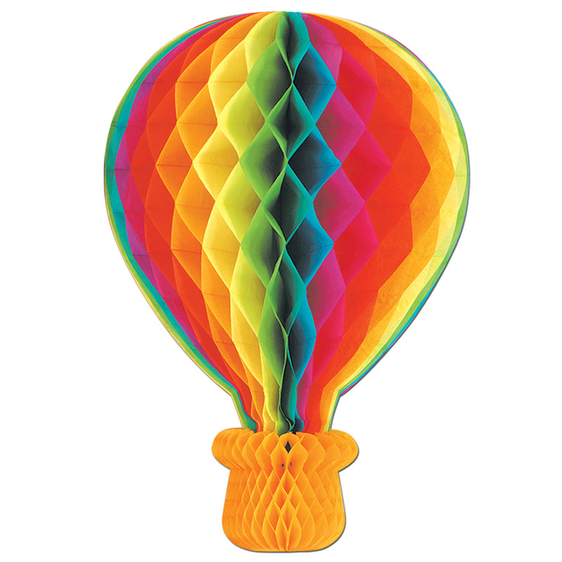 Tissue Hot Air Balloon by Beistle - Spring/Summer Theme Decorations