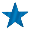 Foil Star Cutout, blue; foil 2 sides by Beistle - General Occasion Decorations