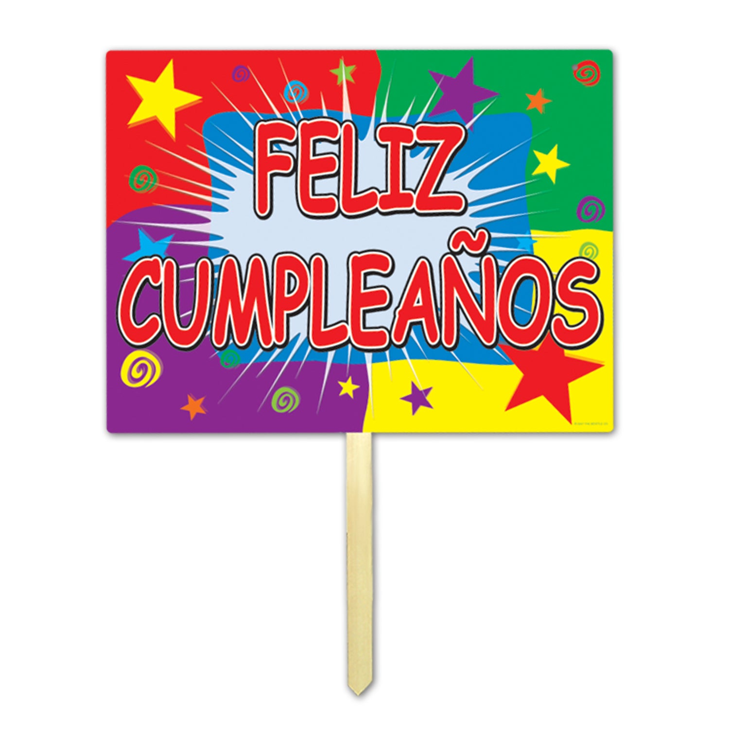 Feliz Cumpleanos Yard Sign by Beistle - Birthday Party Supplies Decorations