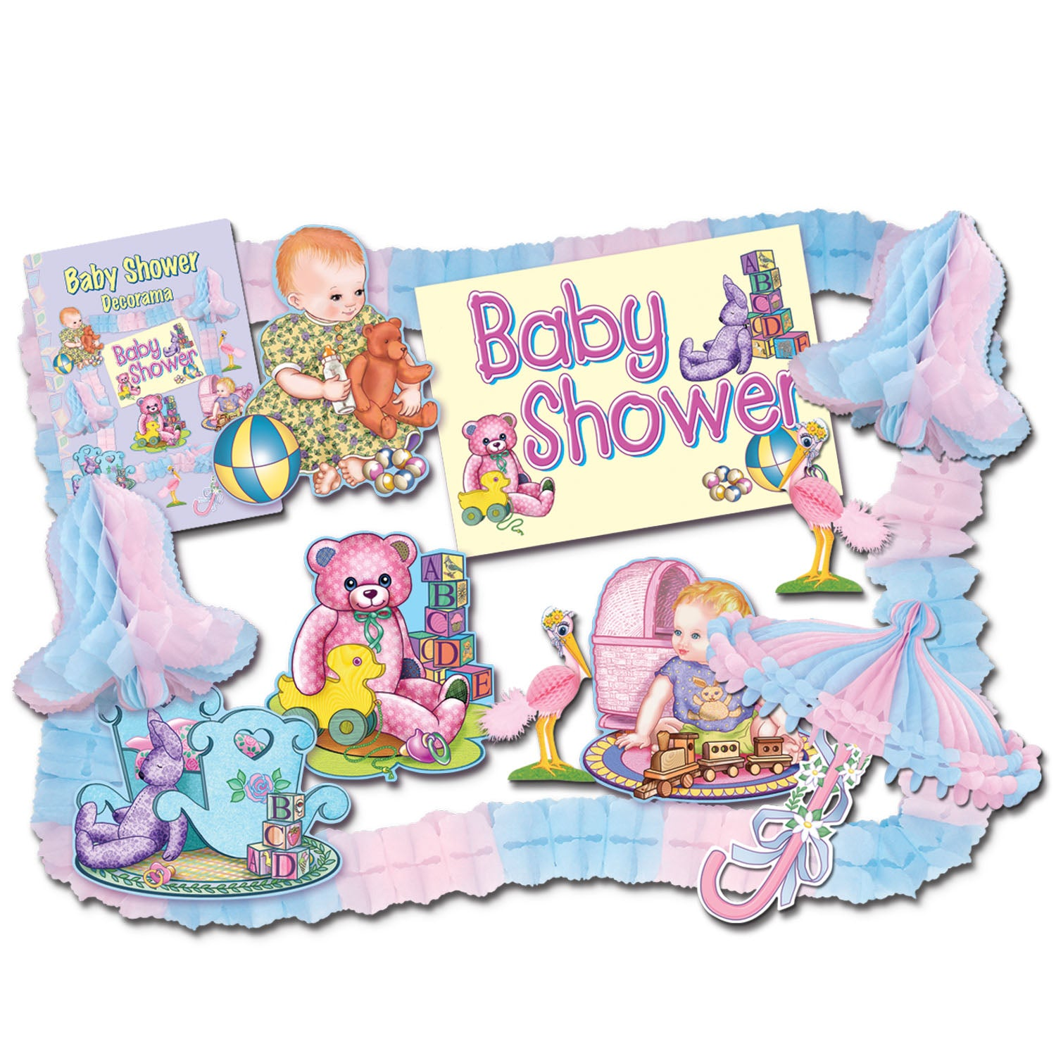 Baby Shower Party Kit by Beistle - Baby Shower Theme Decorations