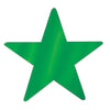 Metallic Star Cutouts (12/Pkg) green by Beistle - General Occasion Decorations