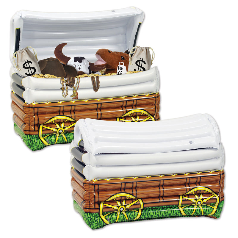 Inflatable Chuck Wagon Cooler by Beistle - Western Theme Decorations