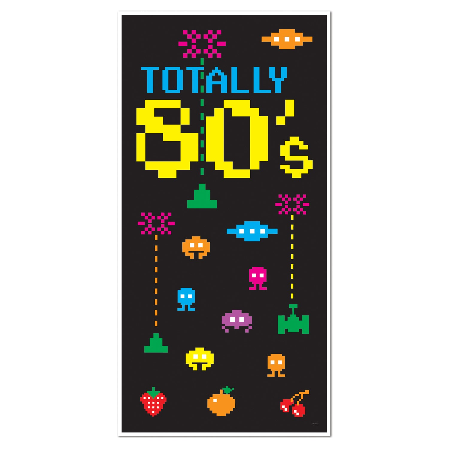 80's Door Cover by Beistle - 80's Theme Decorations