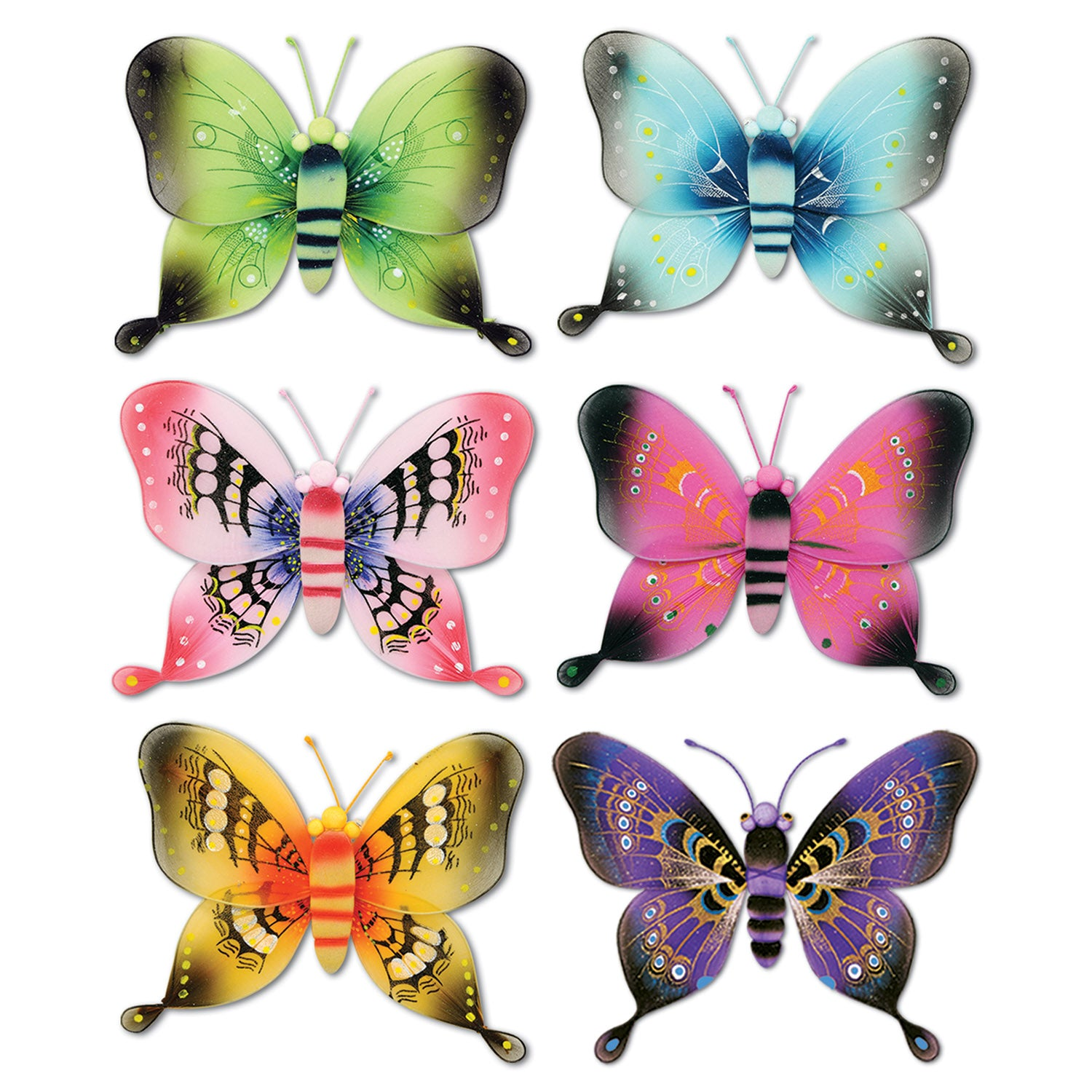 Jumbo Majestic Butterflies by Beistle - Spring/Summer Theme Decorations