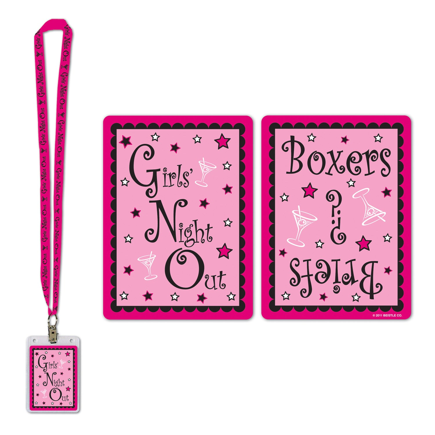 Girls' Night Out Party Pass by Beistle - Bachelorette Theme Decorations