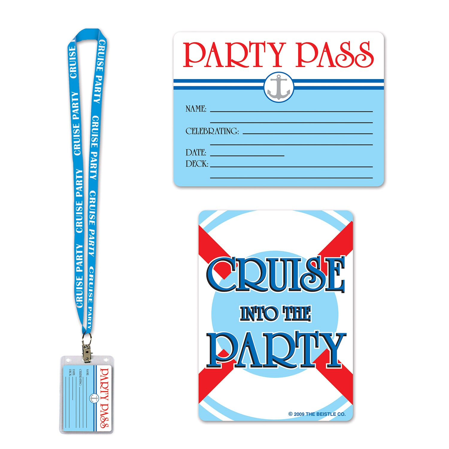 Cruise Ship Party Pass by Beistle - Nautical Theme Decorations