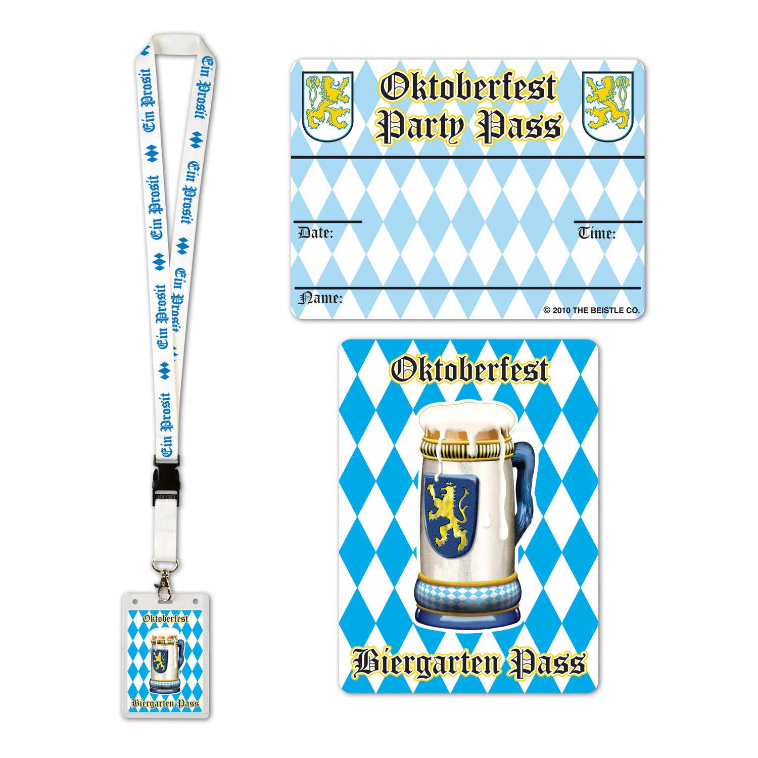 Oktoberfest Party Pass by Beistle - Oktoberfest Theme Decorations