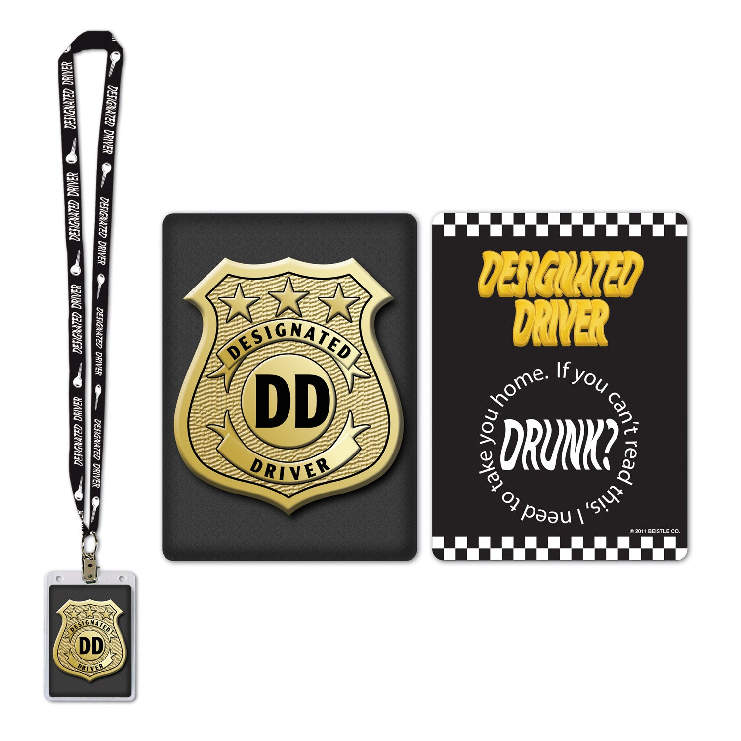 Designated Driver Party Pass by Beistle - 21st Birthday Theme Decorations