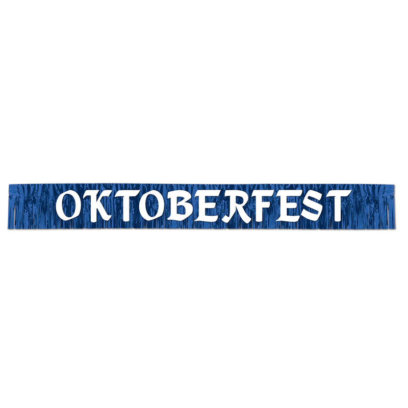 Metallic Oktoberfest Banner by Beistle - Oktoberfest Theme Decorations