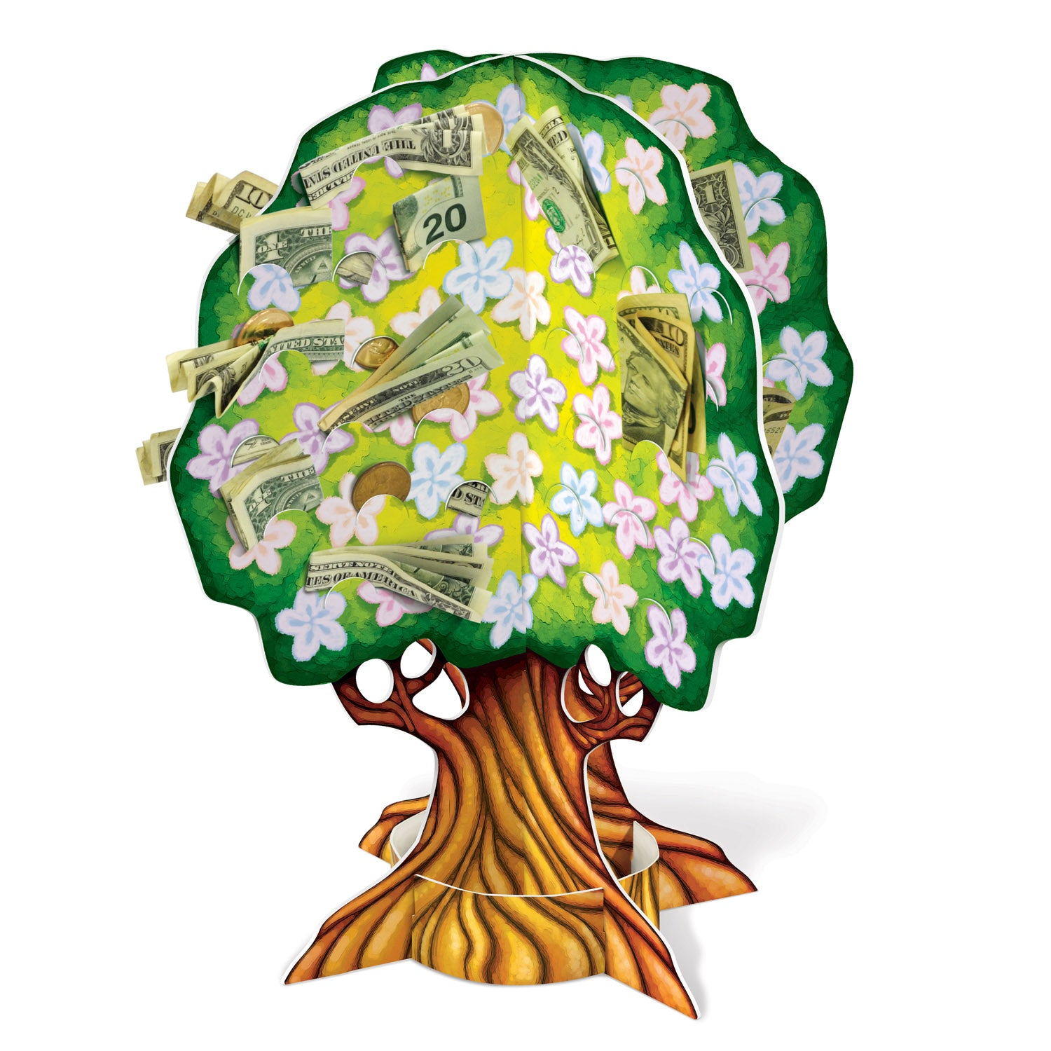 3-D Baby Shower Money Tree by Beistle - Baby Shower Theme Decorations