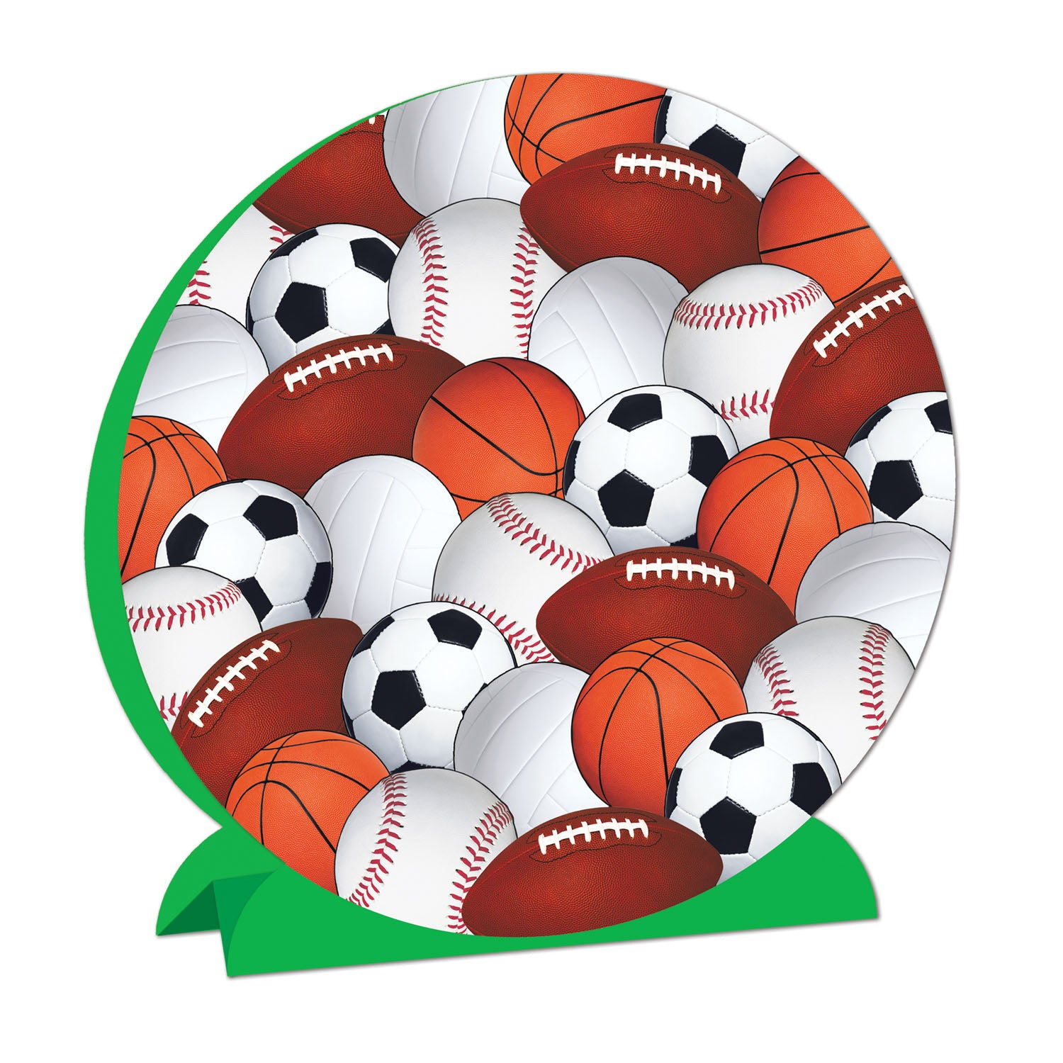 3-D Sports Centerpiece by Beistle - Sports Theme Decorations