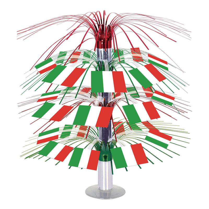 Italian Flag Cascade Centerpiece by Beistle - Italian Theme Decorations