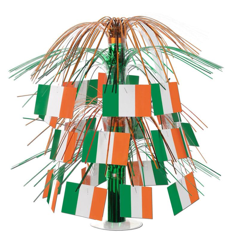Irish Flag Cascade Centerpiece by Beistle - Irish Theme Decorations