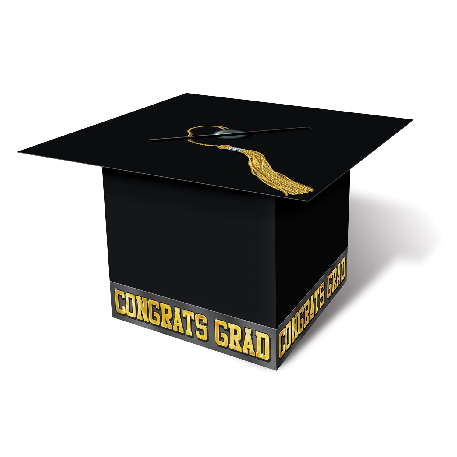 Grad Cap Card Box, black by Beistle - Graduation Theme Decorations