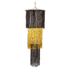 3-Tier Shimmering Chandelier, black & gold (1-Ply) by Beistle - General Occasion Decorations