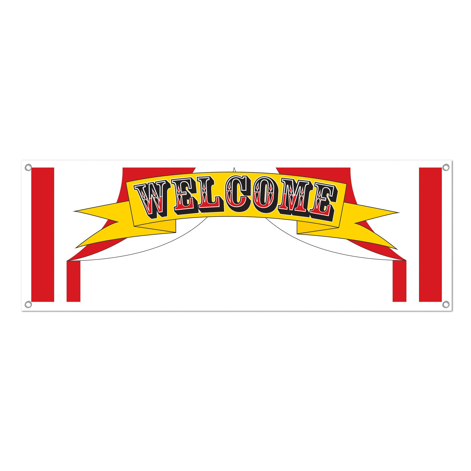 Welcome Sign Banner by Beistle - Circus Theme Decorations