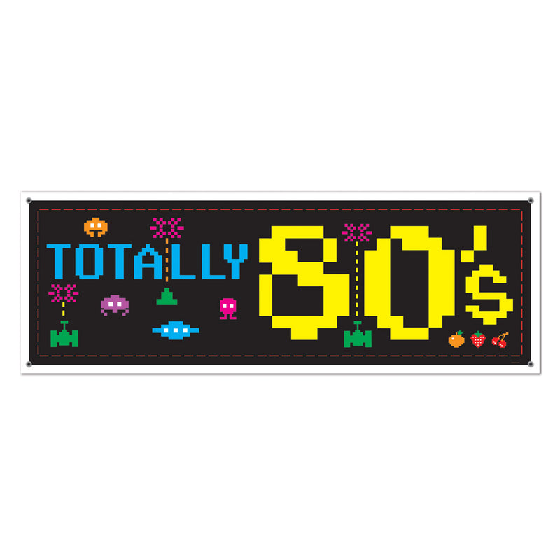 80's Sign Banner by Beistle - 80's Theme Decorations