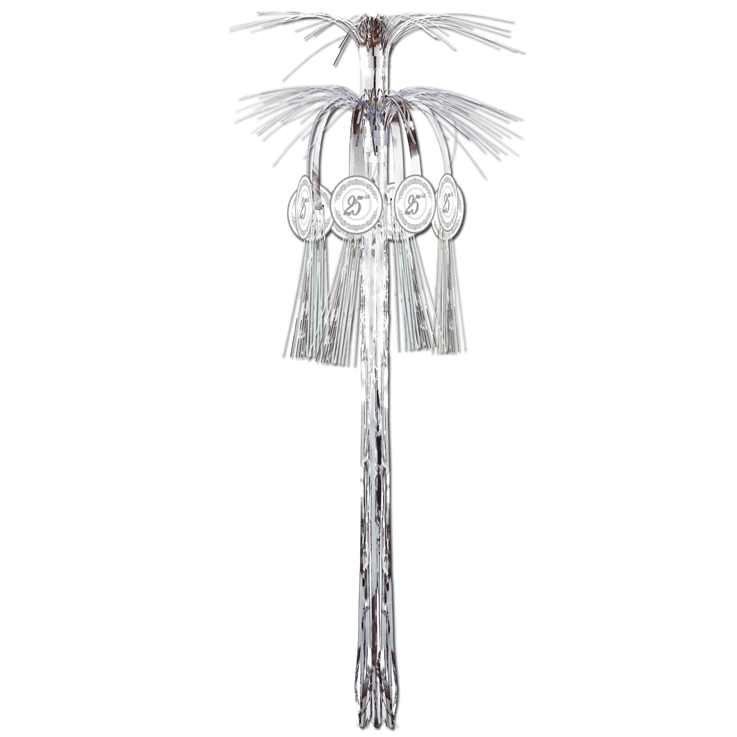 25th Anniversary Cascade Hanging Column by Beistle - Anniversary Theme Decorations