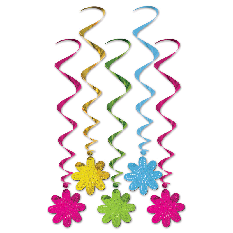 Flower Whirls (5/Pkg) by Beistle - Spring/Summer Theme Decorations