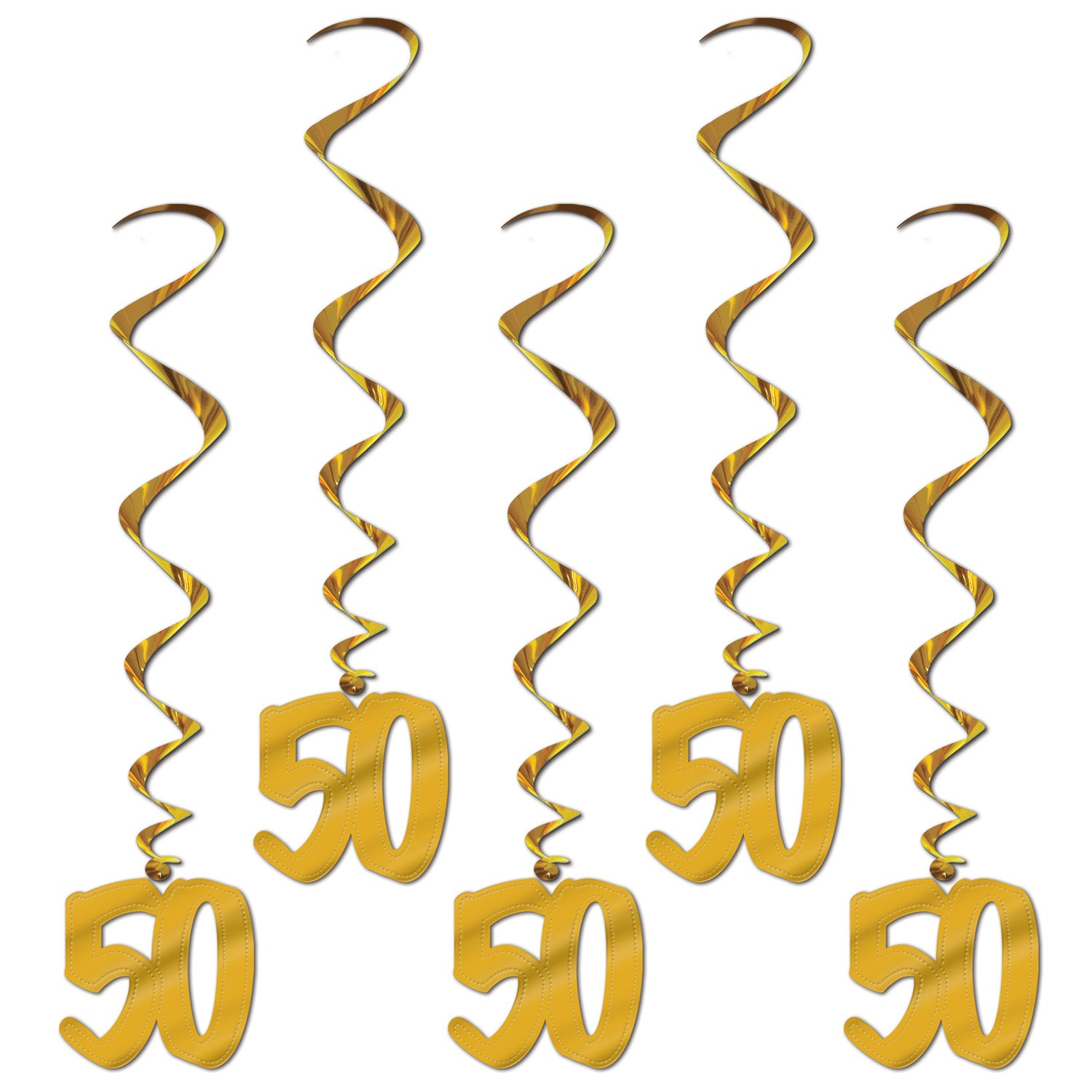 50th Anniversary Whirls (5/Pkg) by Beistle - Anniversary Theme Decorations