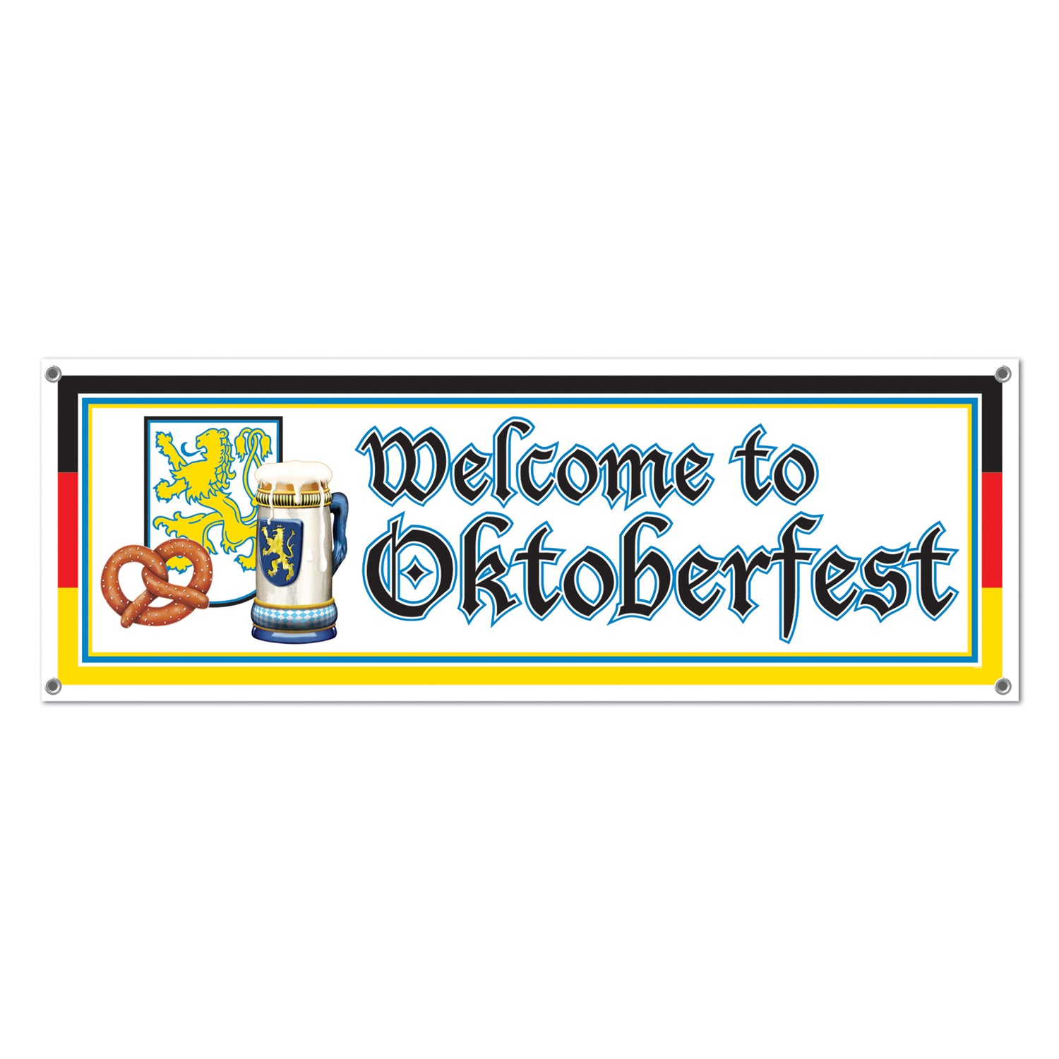 Welcome To Oktoberfest Sign Banner by Beistle - Oktoberfest Theme Decorations