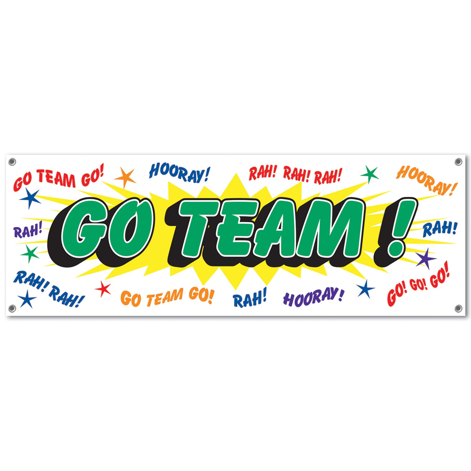 Go Team! Sign Banner by Beistle - Sports Theme Decorations