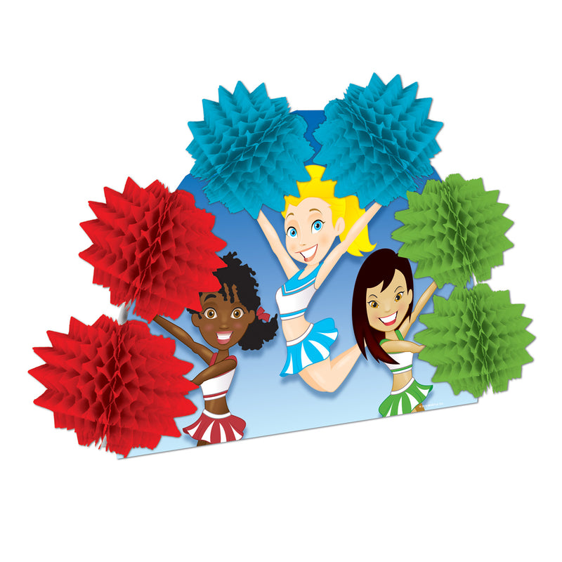 Cheerleading Pop-Over Centerpiece by Beistle - Sports Theme Decorations