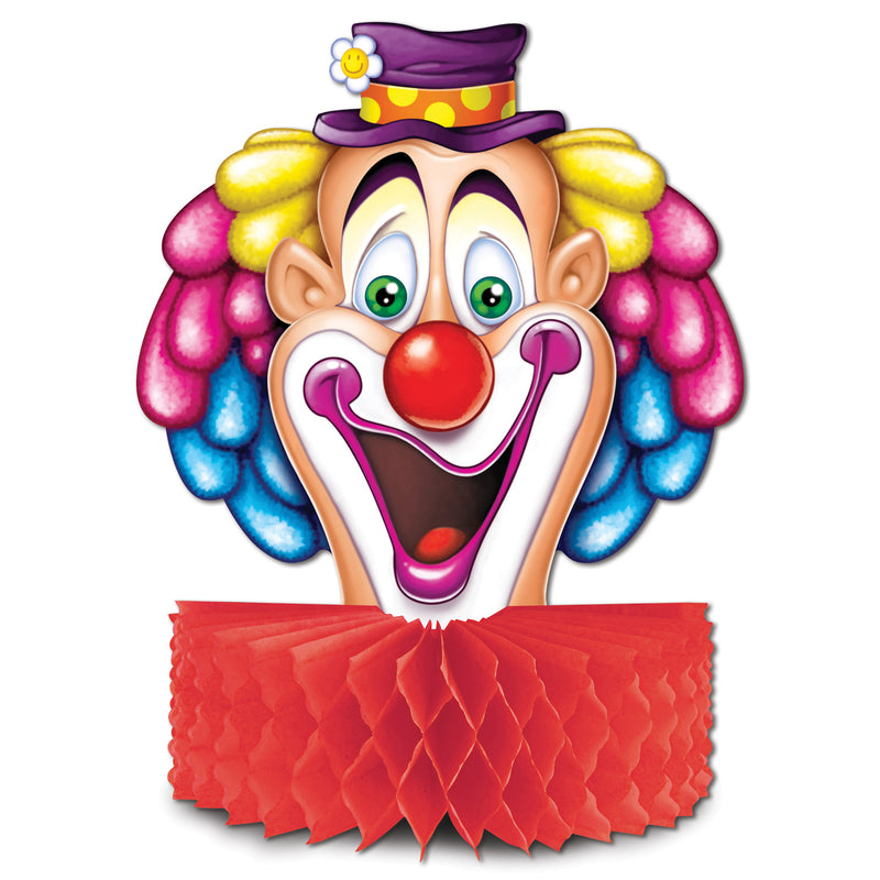 Clown Centerpiece by Beistle - Circus Theme Decorations