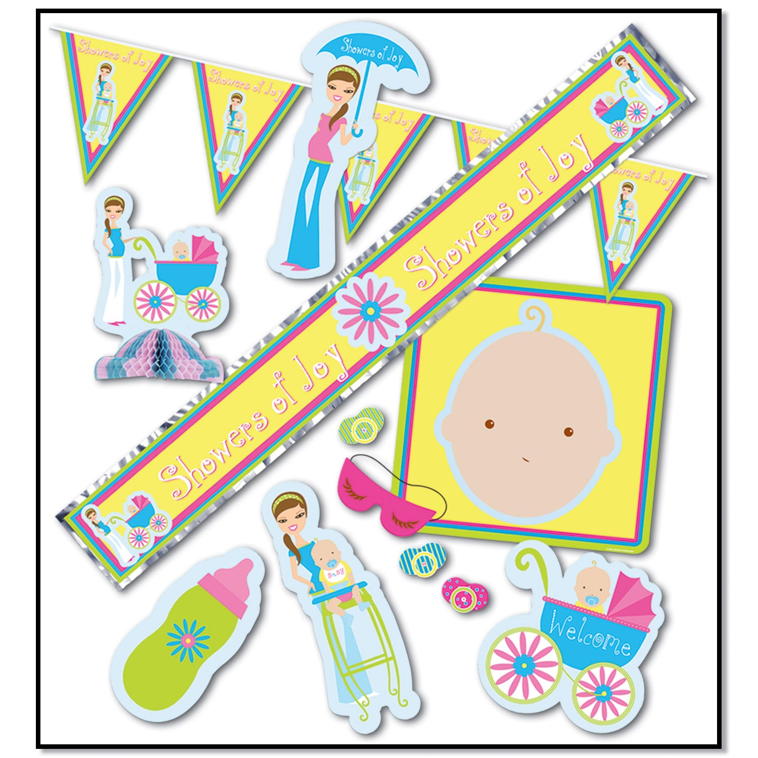 Showers Of Joy Party Kit by Beistle - Baby Shower Theme Decorations