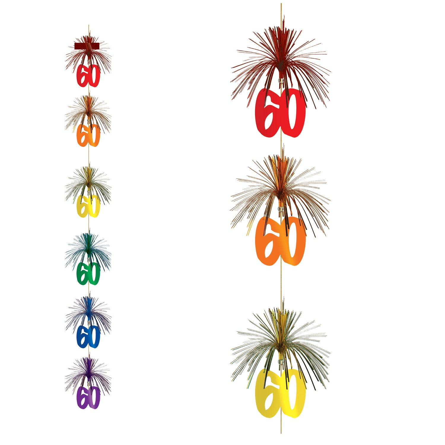 60 Firework Stringer by Beistle - 60th Birthday Party Decorations