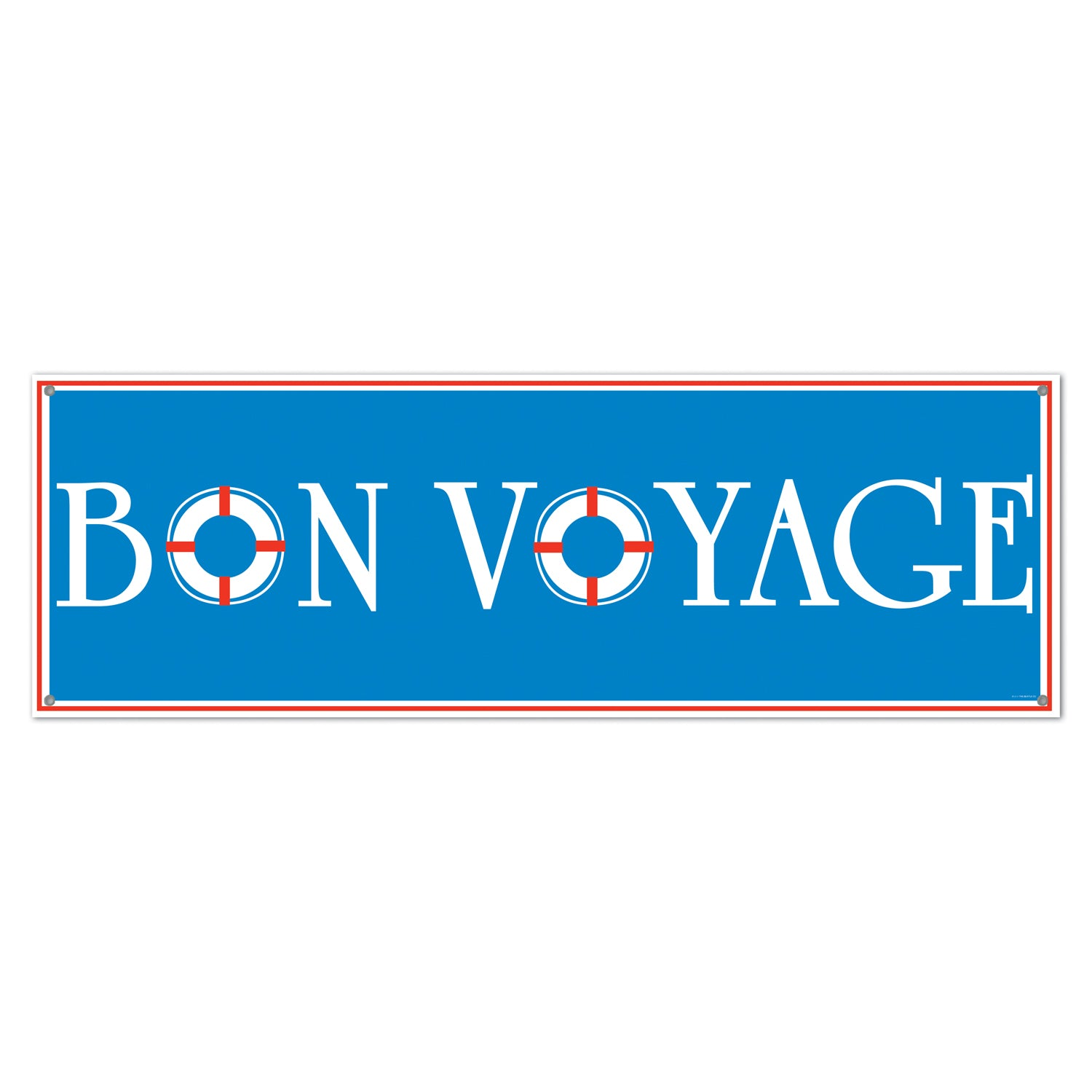 Bon Voyage Sign Banner by Beistle - Nautical Theme Decorations
