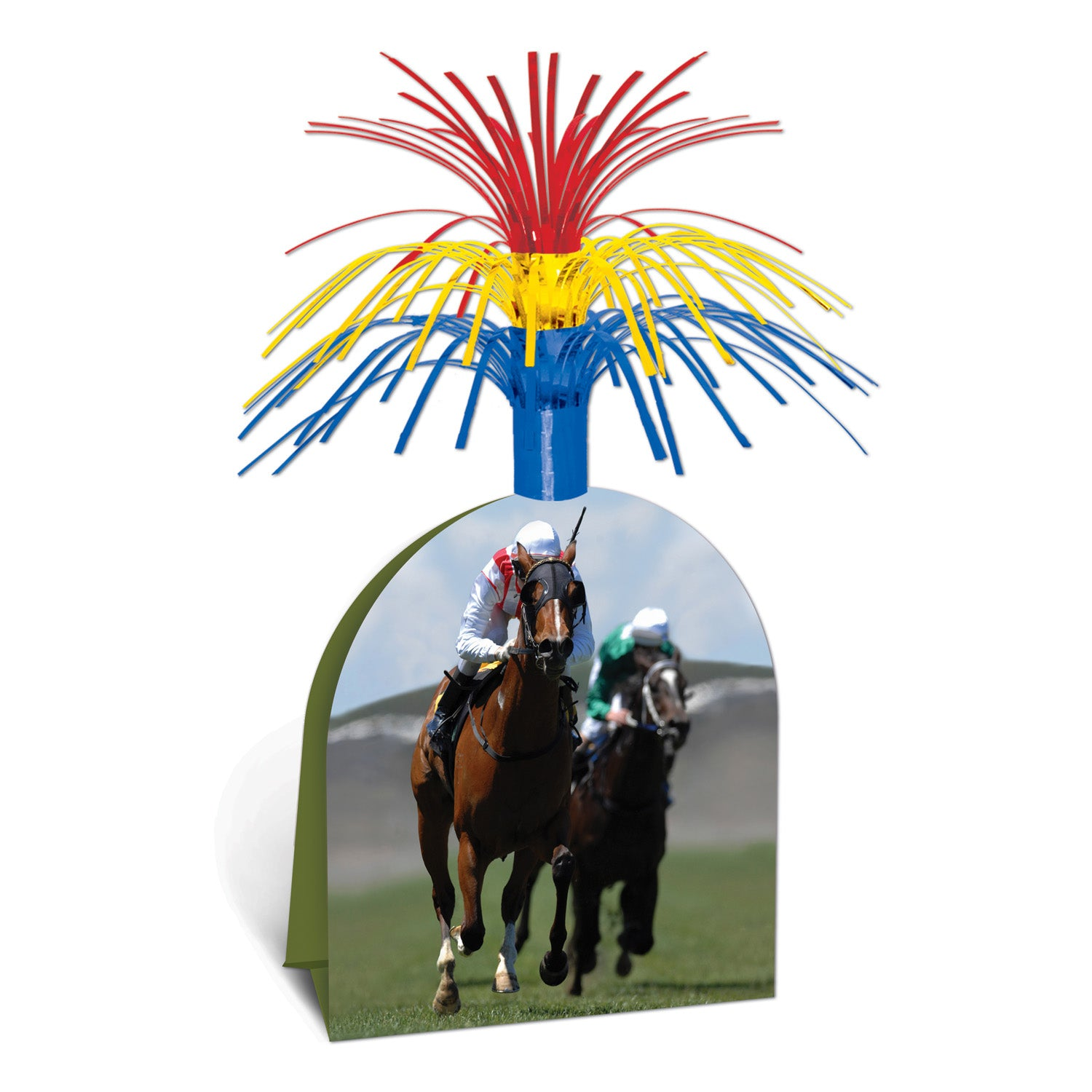 Horse Racing Centerpiece by Beistle - Derby Day Theme Decorations